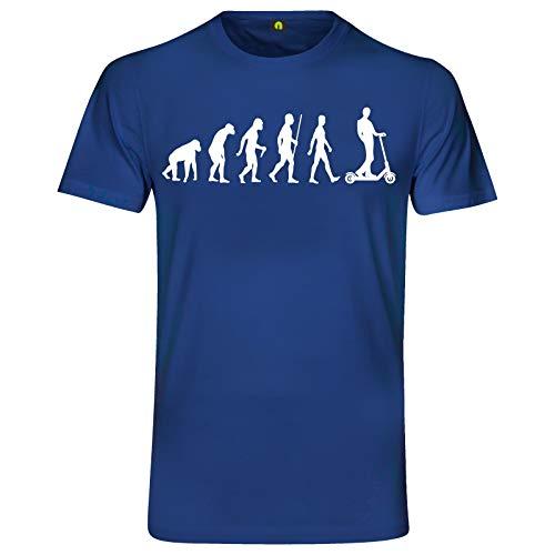 Evolution E-Scooter T-Shirt | Elektroroller | Tretroller | Electric | Roller Blau XL