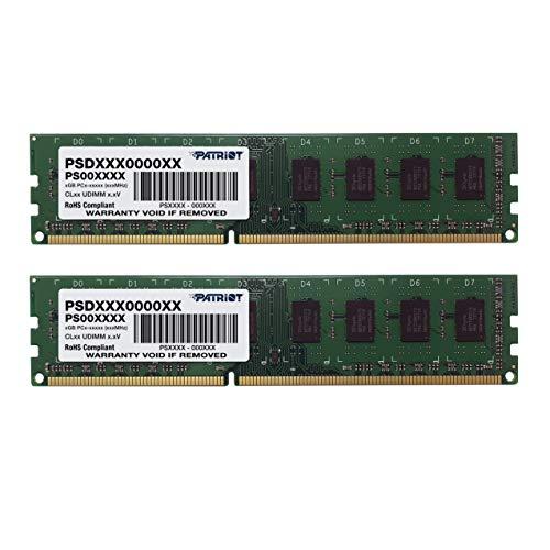 Patriot Signature 8GB DDR3 1600 MHz Arbeitsspeicher Dual Module Kit (8 GB, 2 x 4 GB, DDR3, 1600 MHz, 240 - pin DIMM) PSD38G1600K