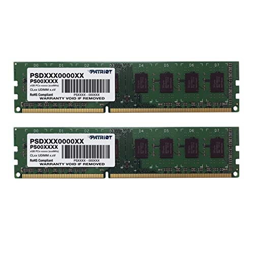 Patriot Signature DDR3 8 GB (2 x 4 GB) CL11 PC3-12800 (1600MHz) 240-Pin DDR3 Desktop Memory Kit PSD38G1600K Minnesota