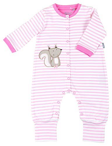 Sigikid Baby-Mädchen-Overall-Strampler-Schlafanzug Schlafstrampler Rosa (Prism Pink 612), Herstellergröße: 74