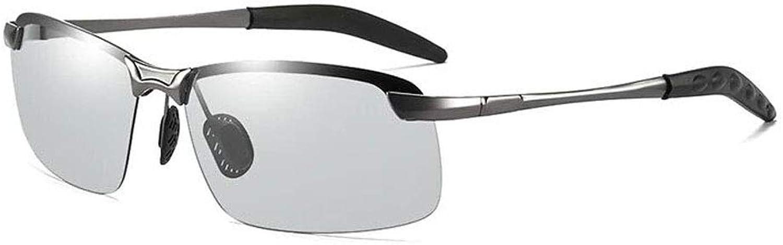 LEMESAN Photochromic Lenses Polarized Sunglasses for Men Women Outdoor Traveling Anti Glare Driving Eyewear Glasses