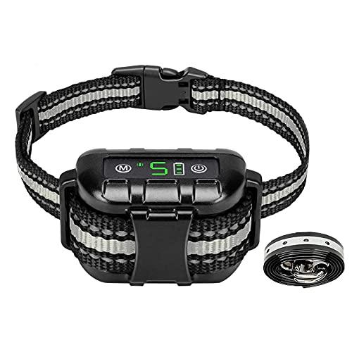 Meloive Collar Ladrido de Perro Automático, Collar de Adiestramiento de Perros Versión 2021, Detención de Ladridos por Vibración y Sonidopara Todos los Perros - Impermeable IPX7 y Recargable.