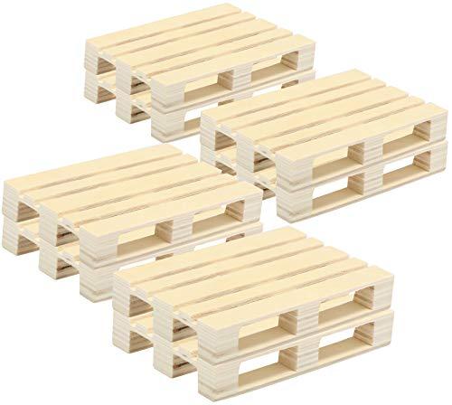 com-four® 8x Untersetzer aus Holz