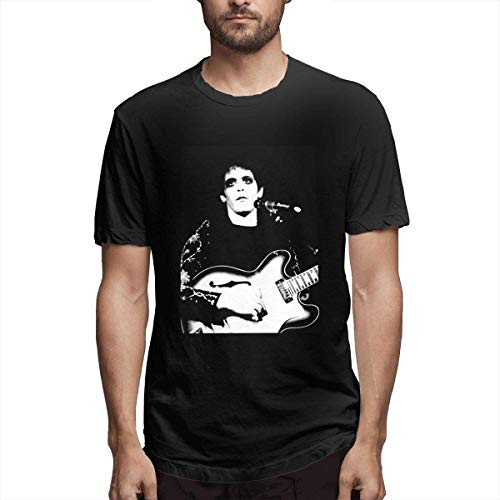 Lou Reed Fashion Men's Short Sleeve T-Shirt Top T-Shirts Black