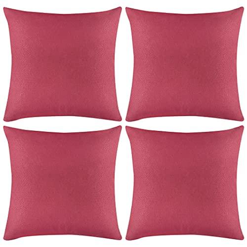 Hodeacc - Set di 4 federe per cuscini impermeabili, quadrate per patio, giardino, soggiorno, divano