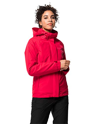 Jack Wolfskin Damen Iceland Voyage 3IN1 Women 3in1-jacke, Clear red, M
