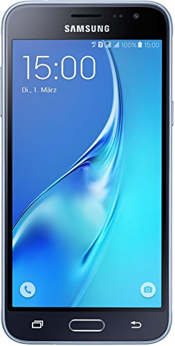 Samsung Galaxy J3 DUOS Smartphone (12,63 cm (5 Zoll) HD Super-AMOLED-Touchscreen, 8 GB, Android 5.1 Lollipop) schwarz