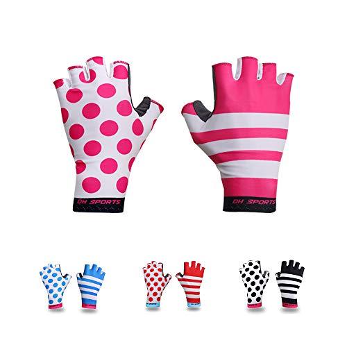 Guantes de ciclismo de medio dedo para hombre y mujer, ligeros y transpirables, guantes de gimnasio de montaña, para bicicleta