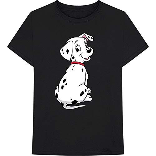 T-Shirt # M Unisex Black # 101 Dalmation Pose [Import]