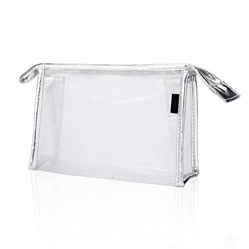 Estuche de Maquillaje Transparente Resistente al Agua,Pvc Bolsa de Cosméticos Impermeable con cremallera,bolsa de Viaje Organizador