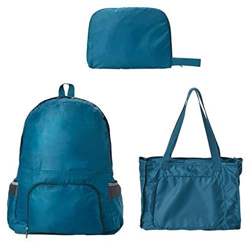 [スーツケースカンパニー]GPT 折りたたみリュックサック トートバッグ 2WAY 変形 コンパクト サブバッグ アウトレット ブルー(明るい青)