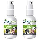 odo Active - Schuhgeruch-Vernichter – Dauerhafter Geruchsentferner – mikrobiologisch – Frische...