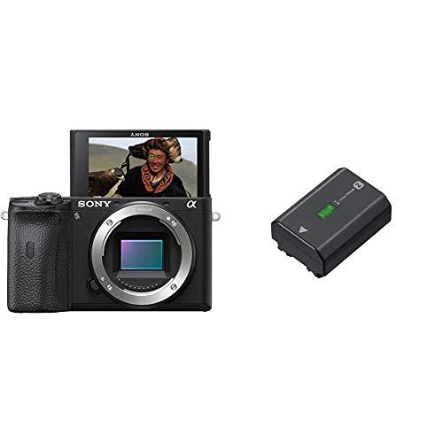 Sony Alpha 6600   APS-C Spiegellose Kamera (Schneller 0,02s Autofokus, optische 5-Achsen-Bildstabilisierung im Gehäuse) und NP-FZ100 Akku (InfoLITHIUM-Akku Z-Serie, 7,2V/16,4Wh (2280 mAh)) schwarz