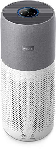 Philips AC4236/10 Luftreiniger Conncted 4000I (für Allergiker und Raucher, bis zu 130M², Cadr 500M³/H, Aerasense-Sensor, mit App-Steuerung) Weiß/Grau