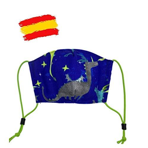 Mascarilla higiénica estampada reutilizable niño 4-5 años con filtro de 5 capas TNT_marca: Brissa España