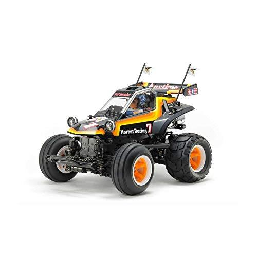 TAMIYA 58666 58666-1:10 RC Comical Hornet (WR-02CB), ferngesteuertes Auto/Fahrzeug, Modellbau, Bausatz, Hobby, Zusammenbauen, schwarz