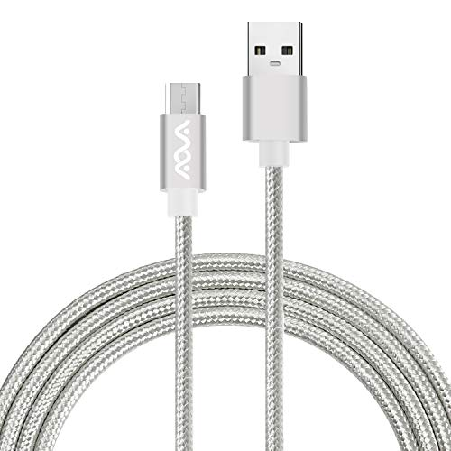 Micro USB AOVA Charging Cable,(4ft) Android Phone Fast Charger Cord with Extra Long Length for Samsung Galaxy S7 Edge/S7/S6 Edge/S6, Note 5/4/2,HTC,LG G4,BlackBerry,Motorola,Sony (White)