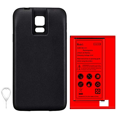 Long Lifespan 8900mAh Lithium Extended Battery Portable Back Cover SIM Pin for Samsung Galaxy S5 SM-G900A Cricket