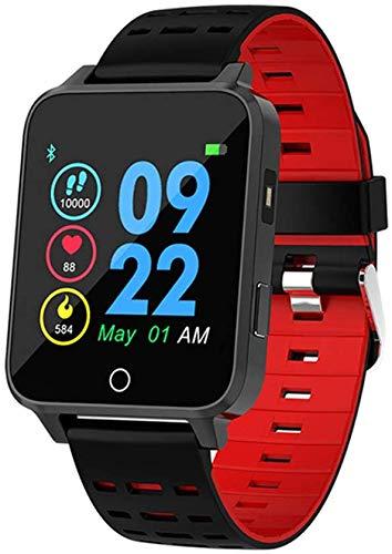 Reloj inteligente para hombre y mujer, 1,54 pulgadas IPS HD Monitor de salud con control dinámico de la frecuencia cardíaca, análisis de datos de sueño, modo deportivo, negro, rojo