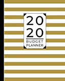 Budget Planner: Weekly and Monthly Financial Organizer | Savings - Bills - Debt Trackers | Modern Gold White Stripes (January-December 2020)