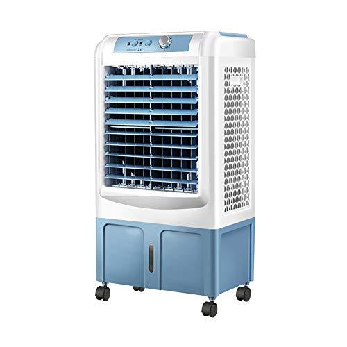Acondicionado Evaporativo Aire Acondicionado Industrial REFRIGERADO por Agua Aire Acondicionado Agua EVAPORATIVA Enfriador PEQUEÑO Aire Acondicionado 120w (Color : Blue, Size : A)