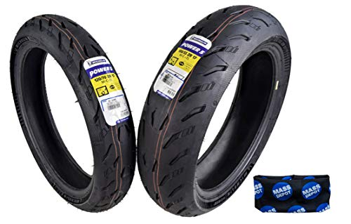 Michelin Pilot Power 5 Radial Sport Bike Motorcycle Tire 120/70-17 180/55-17 (120/70ZR17 Front 180/55ZR17 Rear)