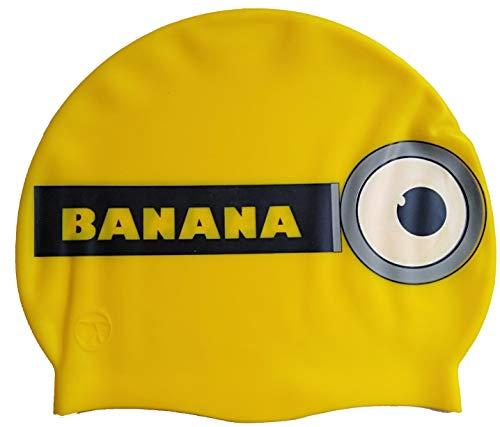 SWIMXWIN Cuffia in Silicone Banana | Cuffia da Nuoto| Grande Comfort e aderenza | Design e Stile Italiano