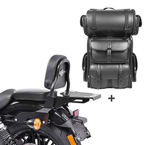Respaldo CSS Fix + Bolsa Trasera LX para Harley Sportster 1200 CB Custom 13-17
