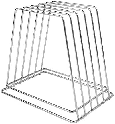 """Commercial Cutting Board Rack - Stainless Steel, No Rusting (1"""" Width Slots (5 Slot))"""