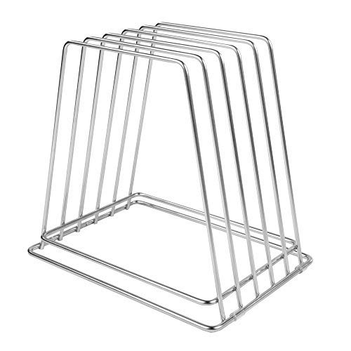 "Professional Kitchen Cutting Board Organizer, 1"" Slot Stainless Steel Rack NSF Fits Baking Sheets"