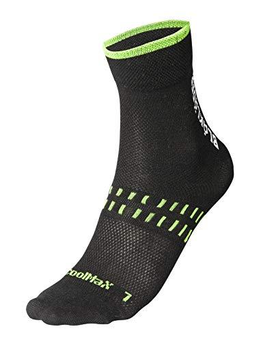Blaklader Workwear Socken Dry 2-Pack 2190 - Herren Größe 10-13 (EU 45-48) Schwarz/Neon Grün