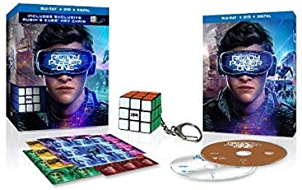 Ready Player One Blu-Ray, DVD, and Digital WALMART EXCLUSIVE Bonus Rubik's Cube Key Chain & Stickers