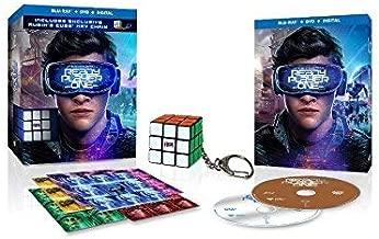 Ready Player One Blu-Ray, DVD, and Digital WALMART EXCLUSIVE Bonus Rubik's Cube Key Chain & Stickers
