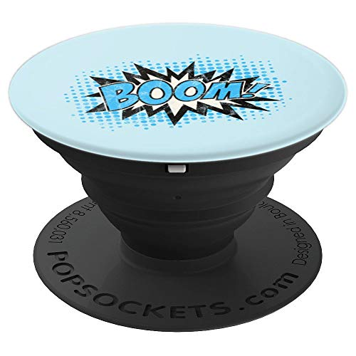 Vintage Boom Bang Pow Kaboom Comic Explosion Speech Bubble PopSockets Grip and Stand for Phones and Tablets