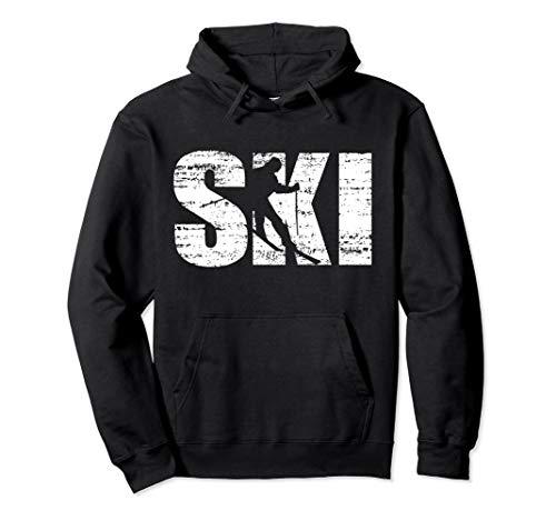 Cool Distressed Skiing hoodie for skiers