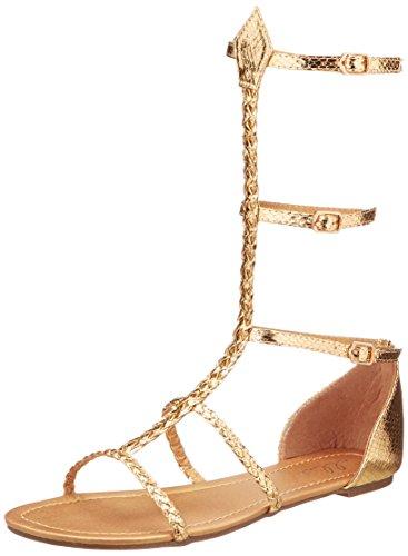 Ellie Shoes 015-cairo, Multicolor, Talla nica, Color Dorado, Talla 38 EU