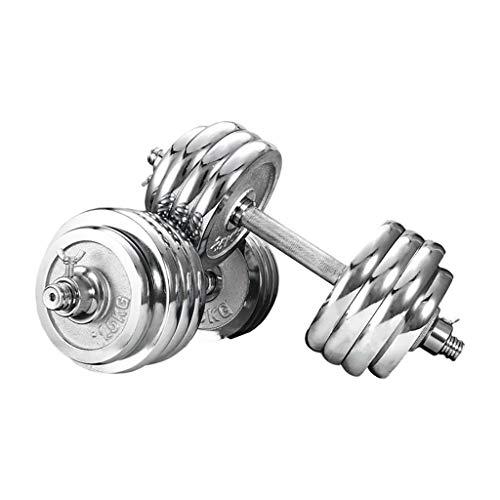 WYH Pesas Ajustable 40 kg / 88lb Pesas de Pesas Conjunto de Pesas Conector de Barbell Ejercicio y Fitness Dumbbell Home Gym Equipment Musculación (Peso : 40Kg(20Kg×2))