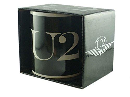U2 - Keramik Becher Tasse - Logo - verpackt in einer Geschenkbox!