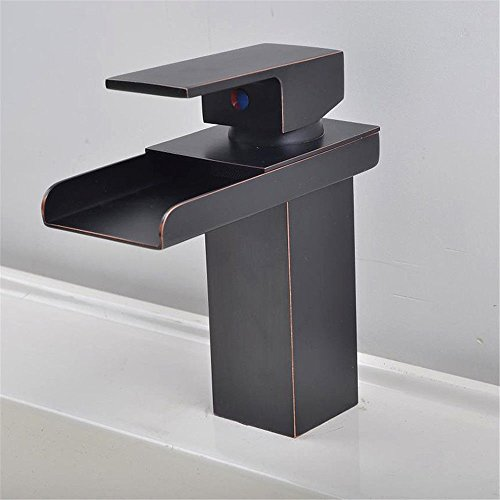 Grifo de cocina grifo lavabo baño con ajuste grifo cascada grifo bronce negro fregadero grifo boca ancha grifo mezclador caliente y frío baño mixto