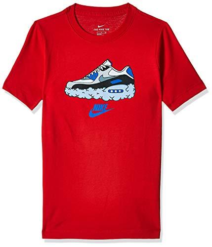 Nike Jungen Sportswear Air Max 90 Clouds T-Shirt, Rojo Universitario, M