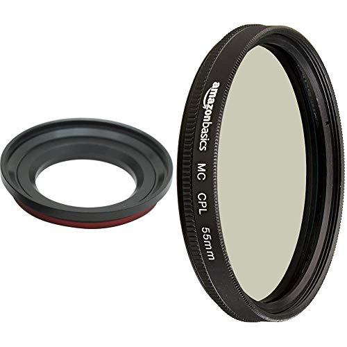 Carry Speed MagFilter Filteradapter auf 55mm magnetischer Filteradapter für Sony RX100/HX10/HX20/HX30V & Amazon Basics Zirkularer Polarisationsfilter - 55mm
