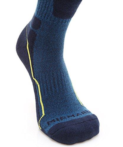 MIRMARU 5 Paires randonnée extérieure trekking coussin mi-chaussettes pour hommes 1 noir, 2...