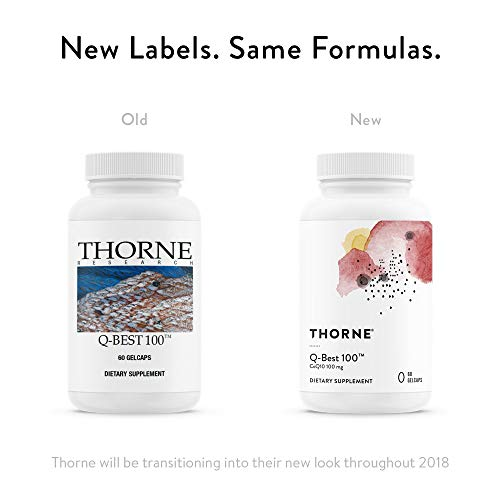 Thorne Research - Q-Best 100 - Patented Crystal-Free CoQ10 Supplement for Heart Health and Cellular Energy Production…