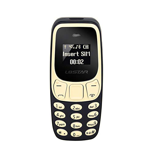 Webla 2G Handy Mini Senioren Maschine Für Senioren mit großen Schlüsseln, einfach zu bedienen Tastatur entsperren Mini Band Bluetooth Dual Sim Strahlungsarm, Metall + PC