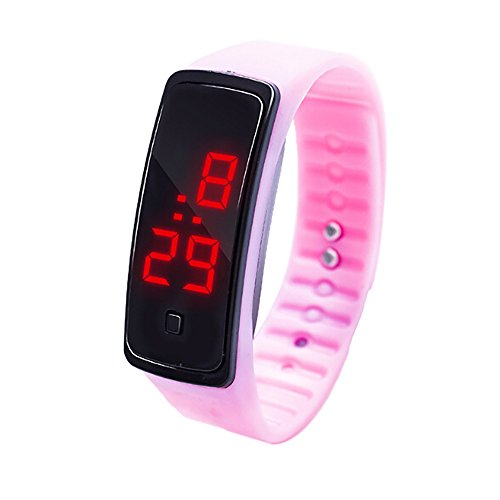 NEEKY Herren Smartwatch Display,watch uhr,Fitness Armband Mit Silikon -Armband,Watch Uhr LED Sportuhr,Fitness Armband Unisex Silikonband Armbanduhren