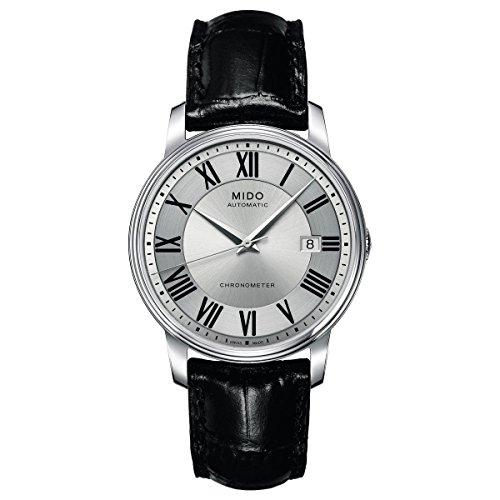Mido Herren-Armbanduhr XL Baroncelli Analog Automatik Leder M0104081603329