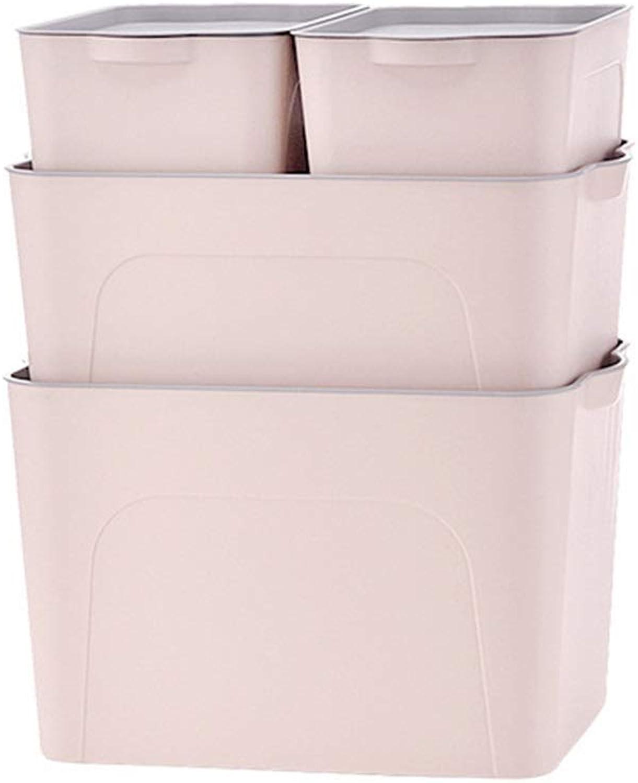 ZDNALS Four-Piece Plastic Storage Box Toy, Clothes Storage Cabinet, Car Storage Box -40×26.5×24.5CM Storage Basket (color   Pink)
