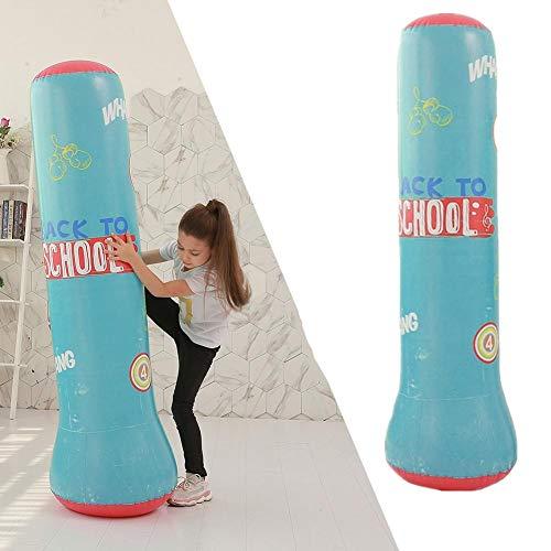 hongyupu Punchingball Boxsack Kinder Punch Tasche Stehen Boxsack Schwere Tasche Boxen Freistehende Ziel Stehen Tumbler Pounch Tasche Für Linderung Druck Green,1.2m