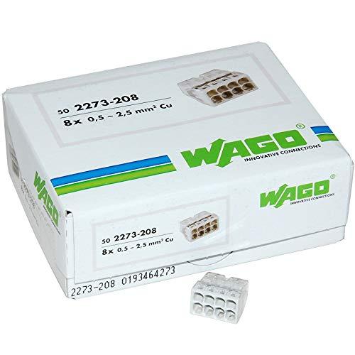 WAGO 2273–208steckbar Terminal Block, 8Wege, 450V, 24A, 50