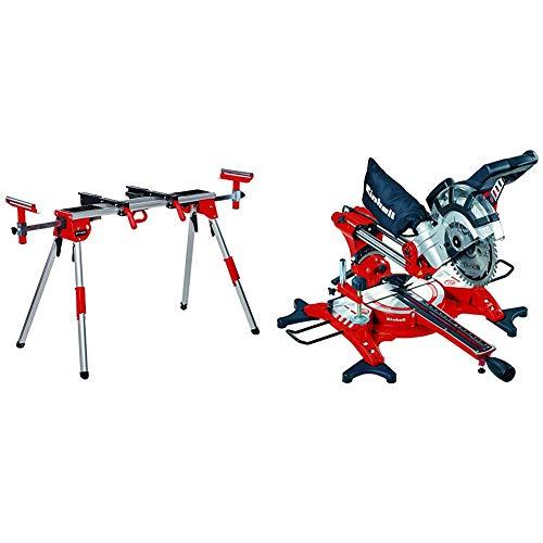 Einhell Untergestell + Zug Kapp Gehrungssäge TC-SM 2131 Dual (1800 W, Sägeblatt Ø 210 mm, Schnittbreite 310 mm, schwenkbarer Sägekopf, Laser)